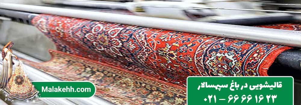 قالیشویی در باغ سپهسالار